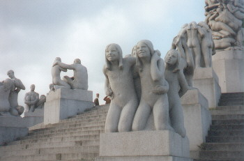 Steinskulpturen im Vigeland-Park
