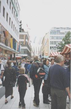 Einkaufsstra�e in Stockholm